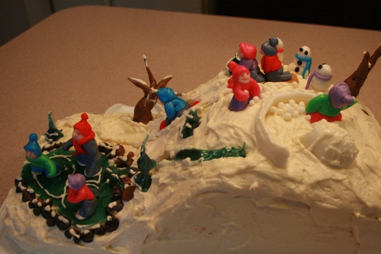Sledding Cake - 2011