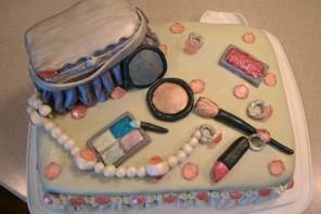 Girly Jewels and Makeup Cake - 2012