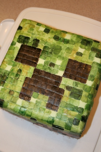 MineCraft Creeper Cake - 2011
