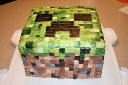 MineCraft Creeper Cake - 2011