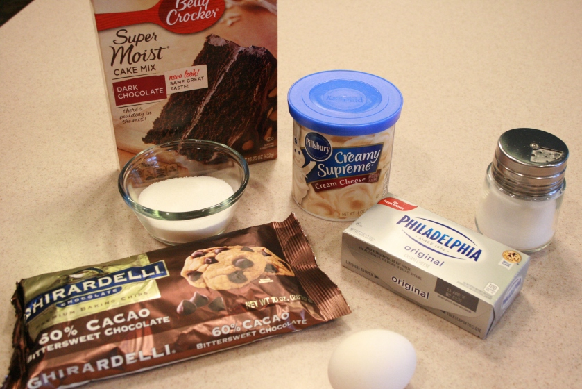 Chocolate Cream Cheese Cupcake - Ingredients