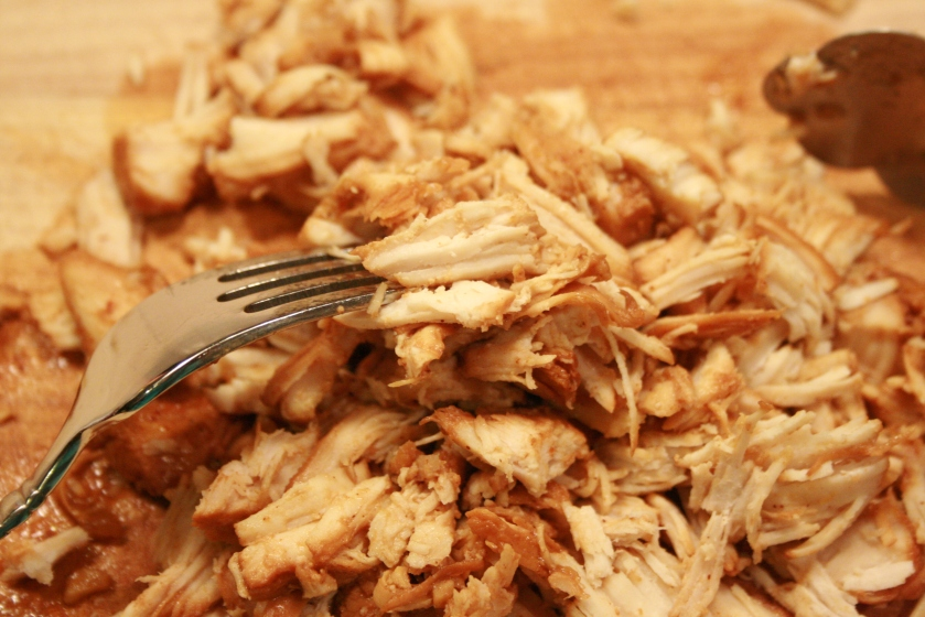 Pulled BBQ Chicken - Shredding