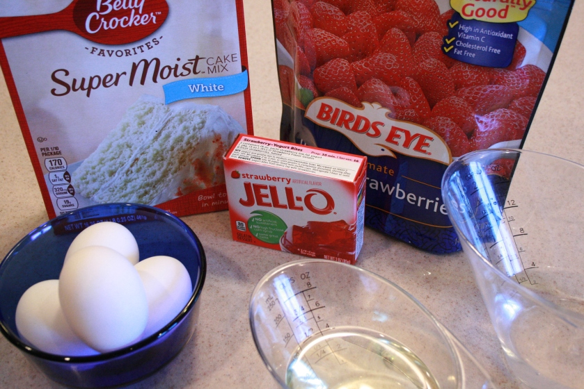 Strawberry Limeade Cake - Ingredients