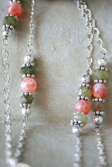 Unakite Pendant Necklace - Detail