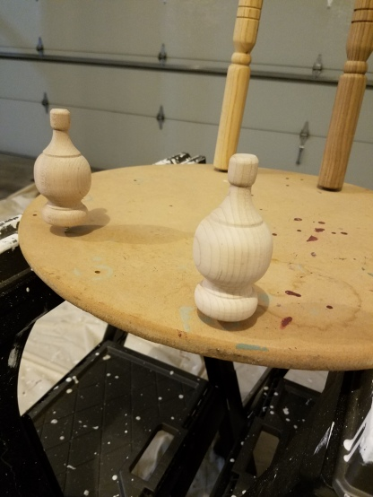 Giant Nutcracker Project - Finials Before Paint