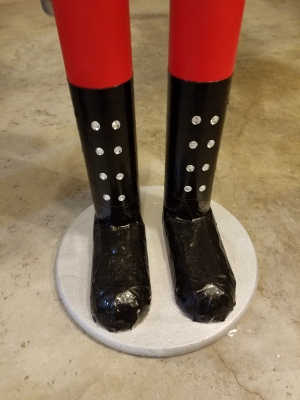 Giant Nutcracker Project - Finished Boot Detail