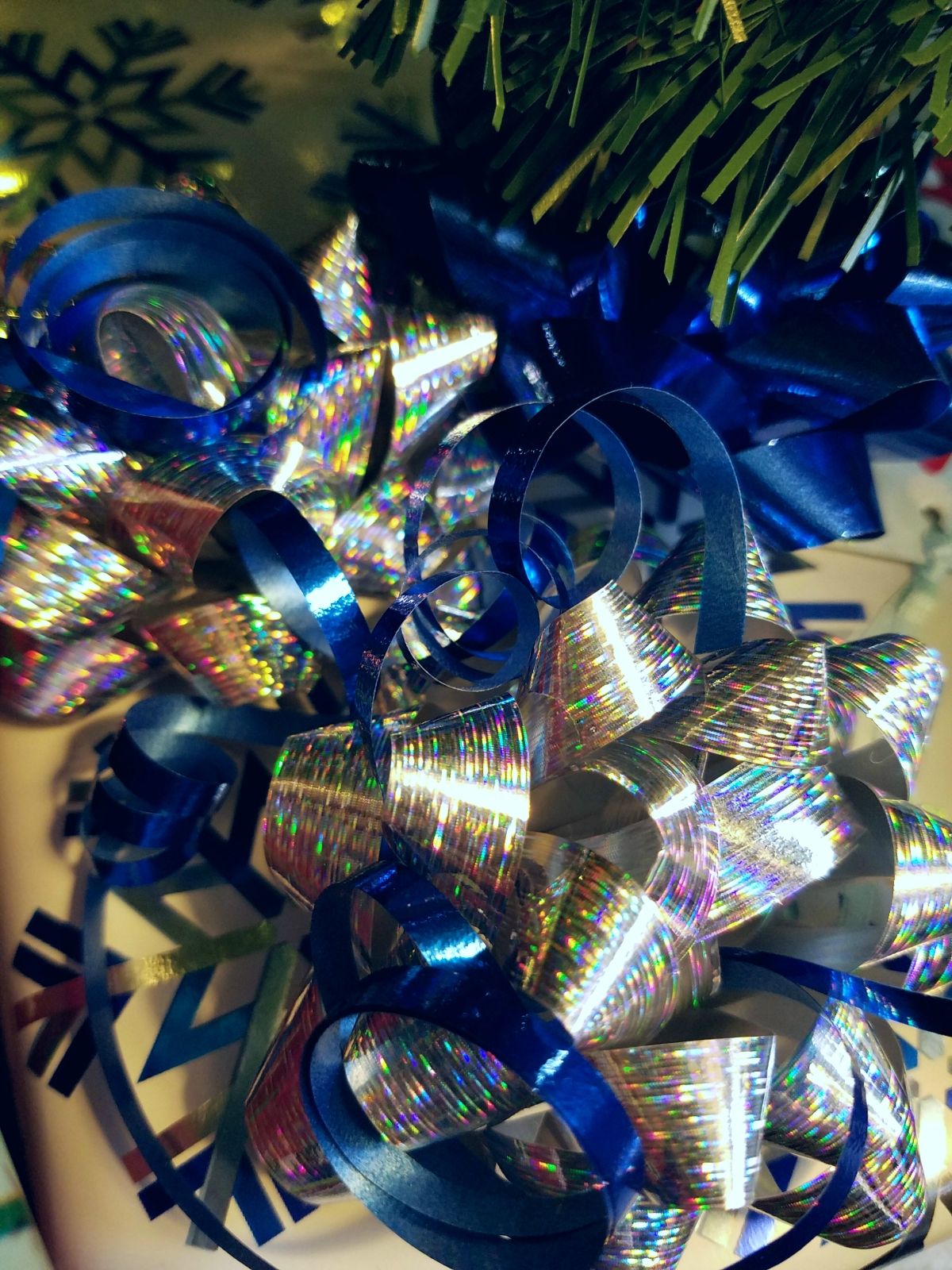 Blue and Silver Ribbon
