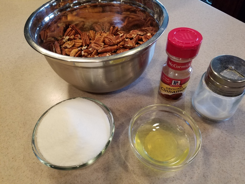 Candied Pecans - Ingredients