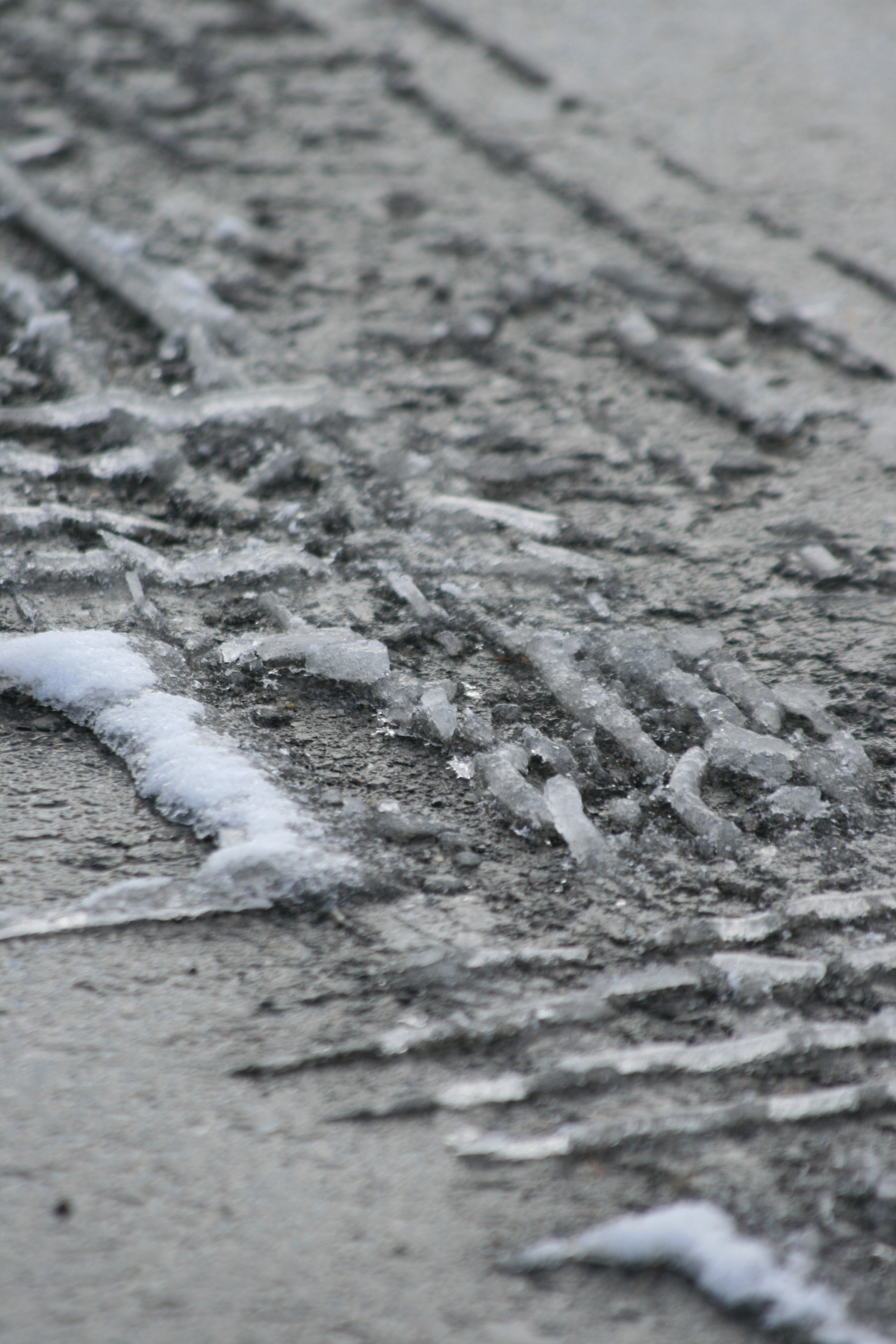 Frozen Slush On Road