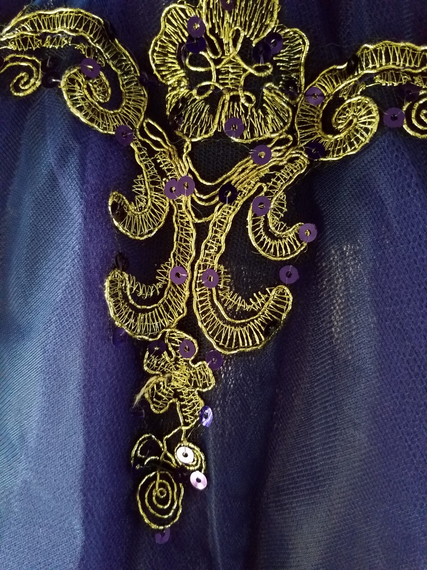 Purple and Gold Pointe Costume