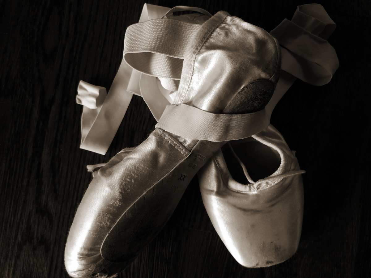 Pointe Shoes - Black & White