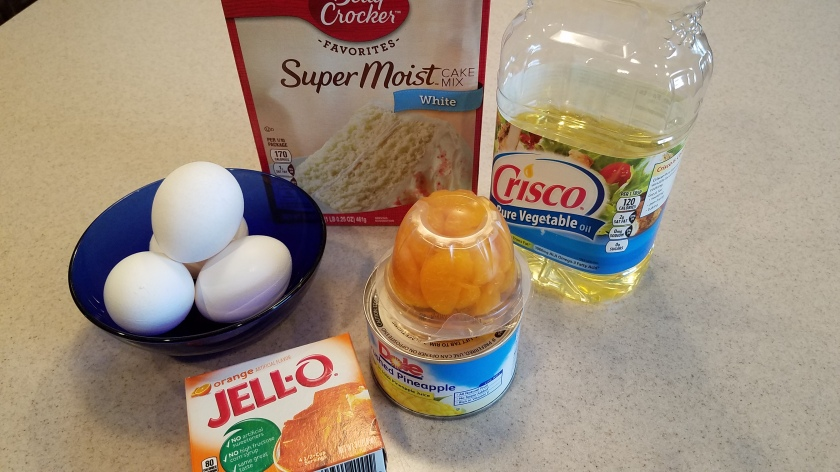 Pineapple Orange Jello Cake - Ingredients