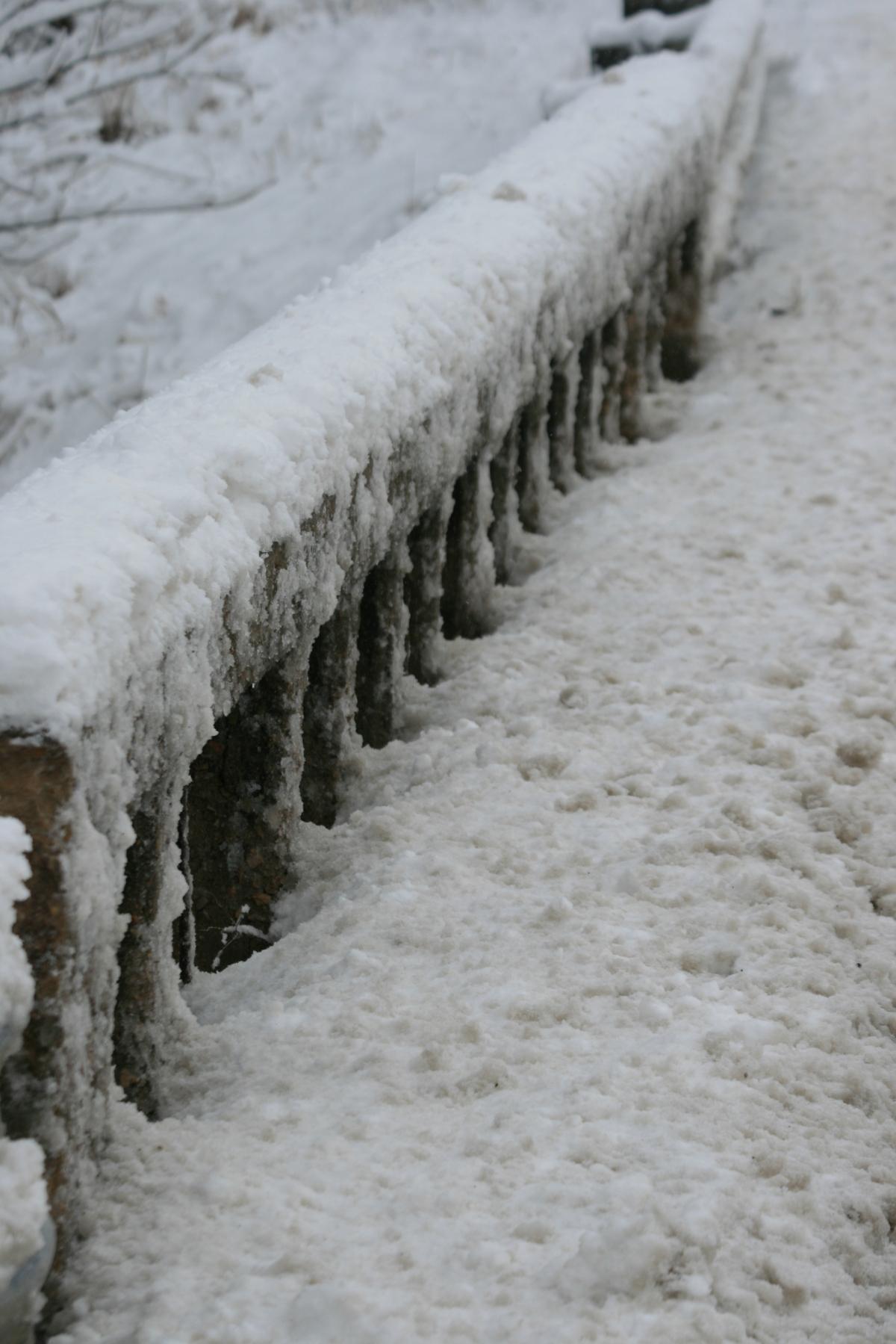 Snow Packed Bridge