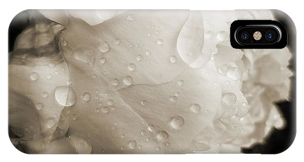 Black and White Peony Phone Case