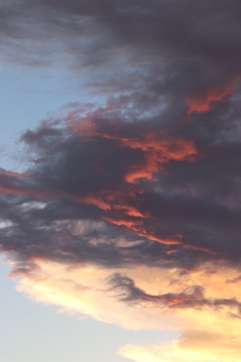 Red Clouds At Edge Of Storm