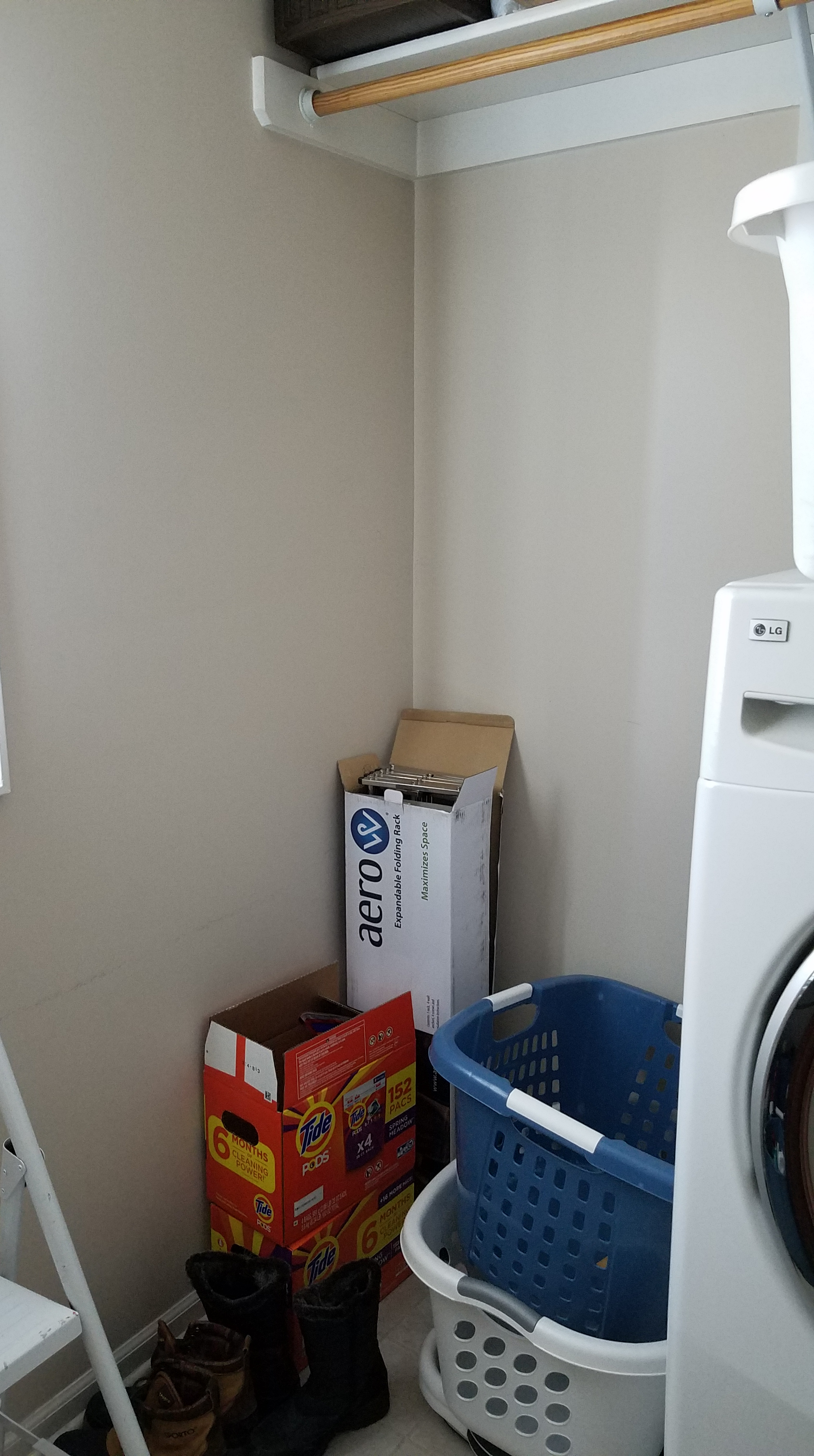 Laundry Room Project - Before Clothes Drying area