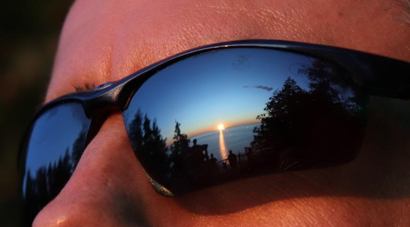 Sunrise Reflection In Sunglasses