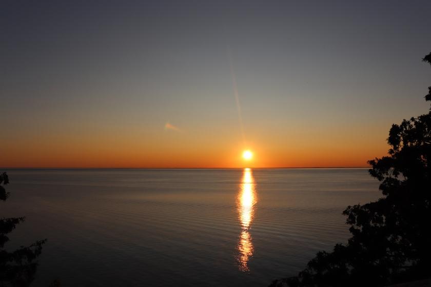 Cloudless Sunset, Lake Michigan