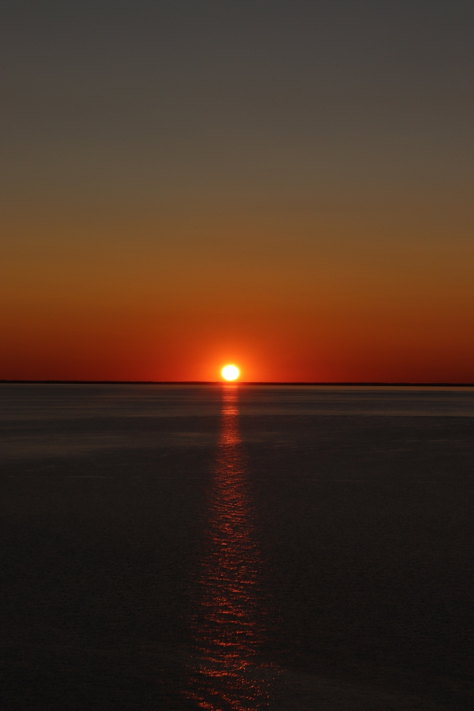 Cloudless Sunset, Lake Michigan
