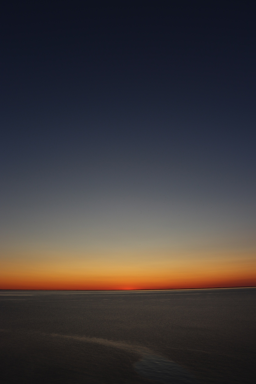 Rainbow Sky After Sunset On Lake Michigan