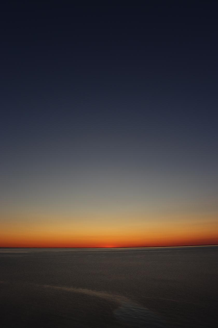 Rainbow Sky After Sunset On Lake Michigan
