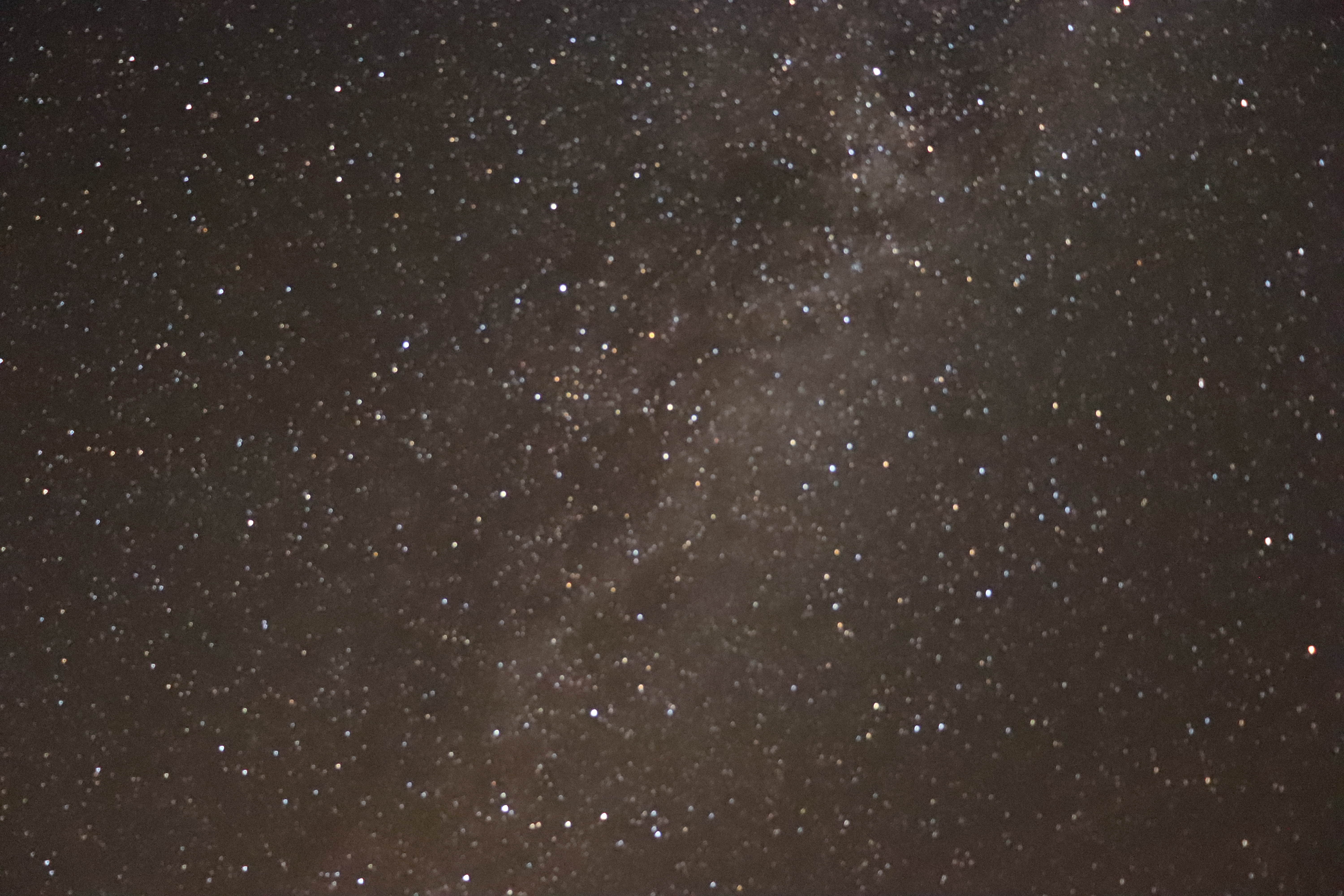 Milky Way Galaxy : Long Exposure - Straight Up View