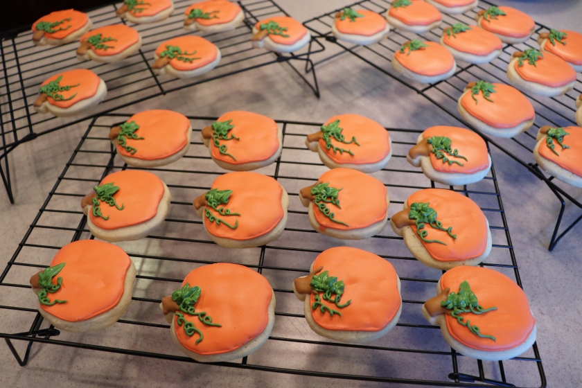 Pumpkin Decorated Sugar Cookies