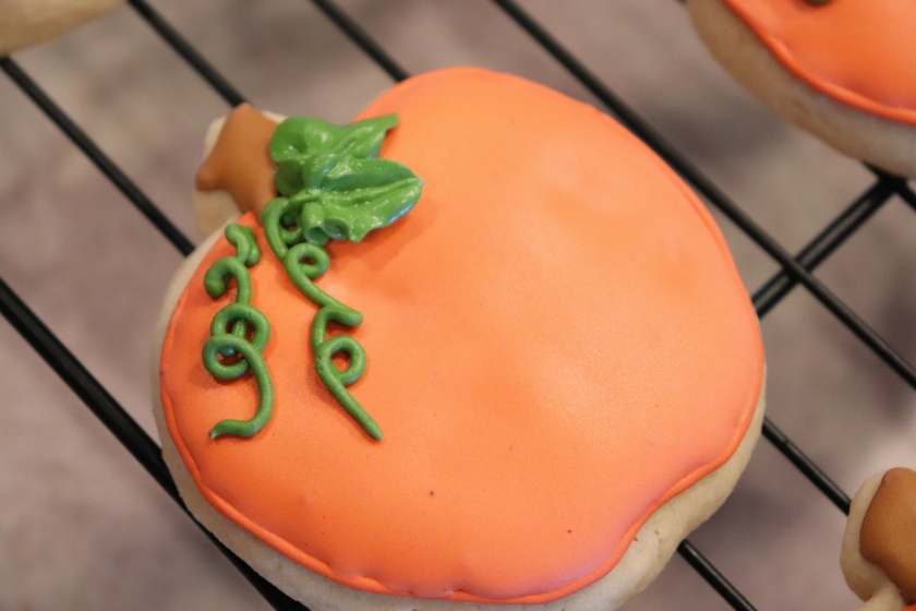 Pumpkin Decorated Sugar Cookie