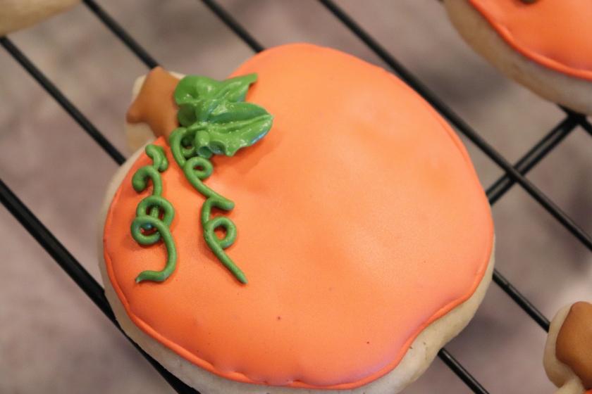 Pumpkin Decorated Sugar Cookie