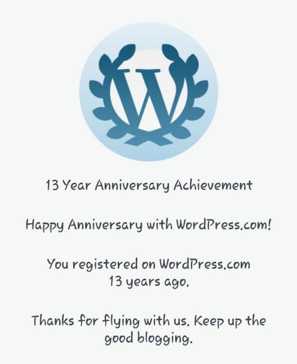 13 Years On Wordpress
