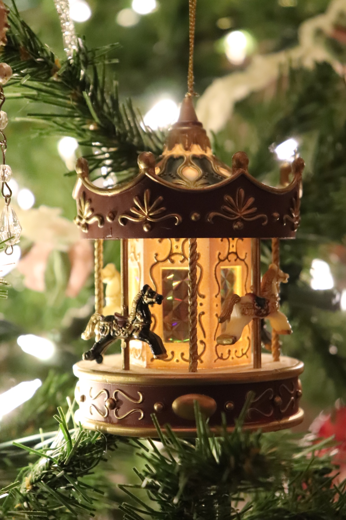 Lit Carousel Ornament