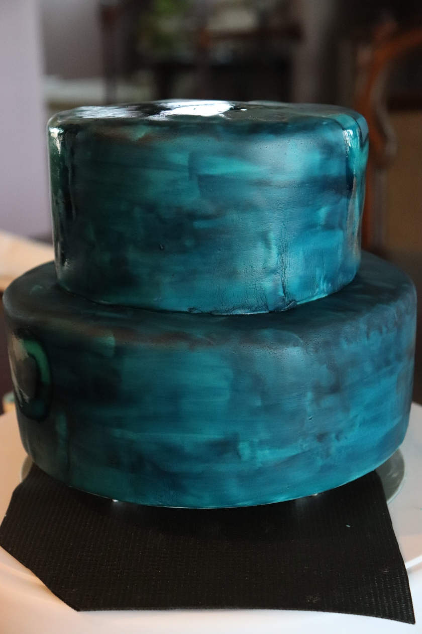 Northern Lights Cake - Base Paint
