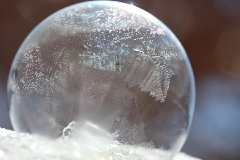 Frozen Soap Bubble