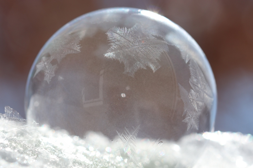 Soap Bubble Just Starting To Freeze