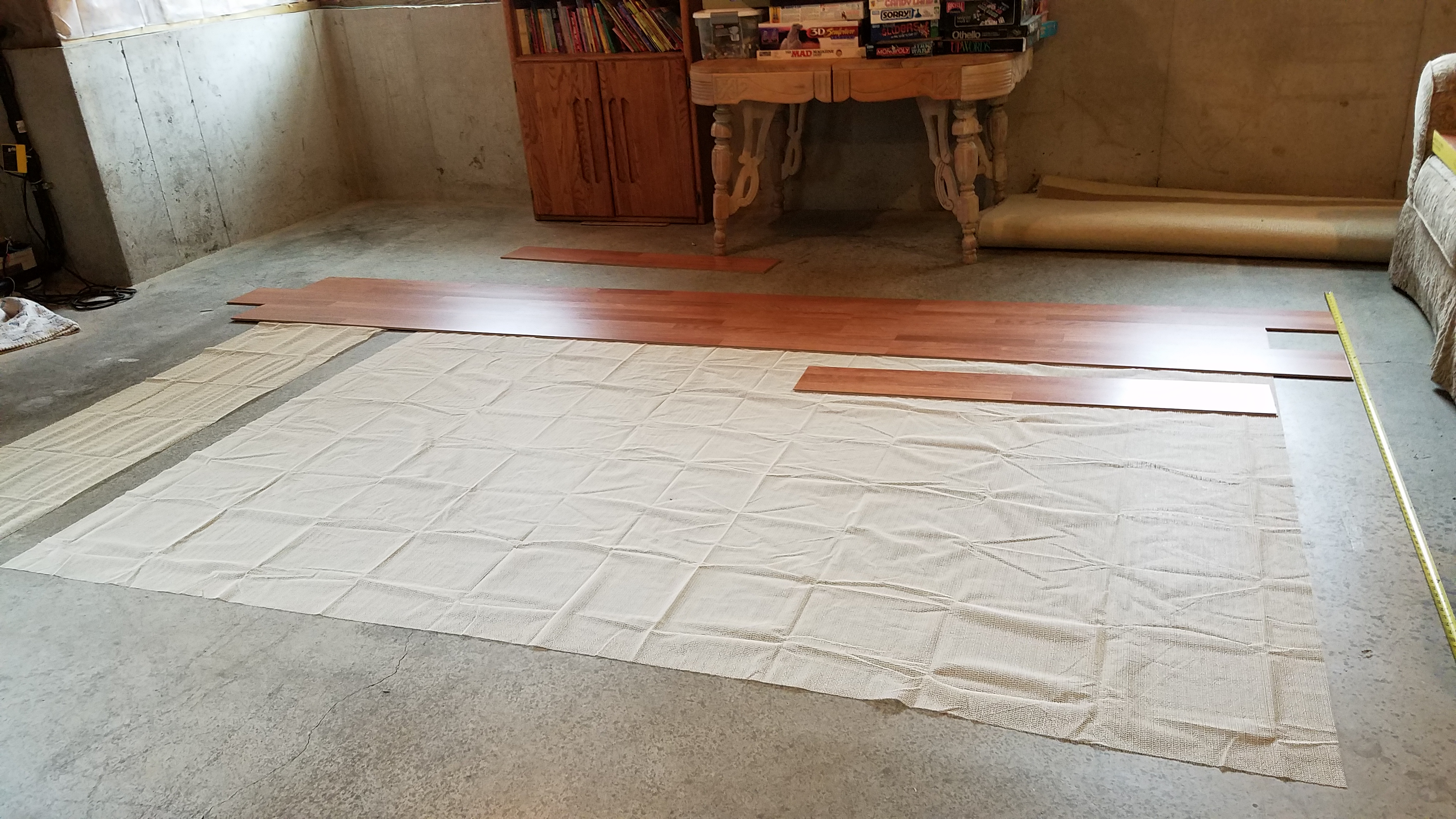 Start of Dance Floor Project - First Rows