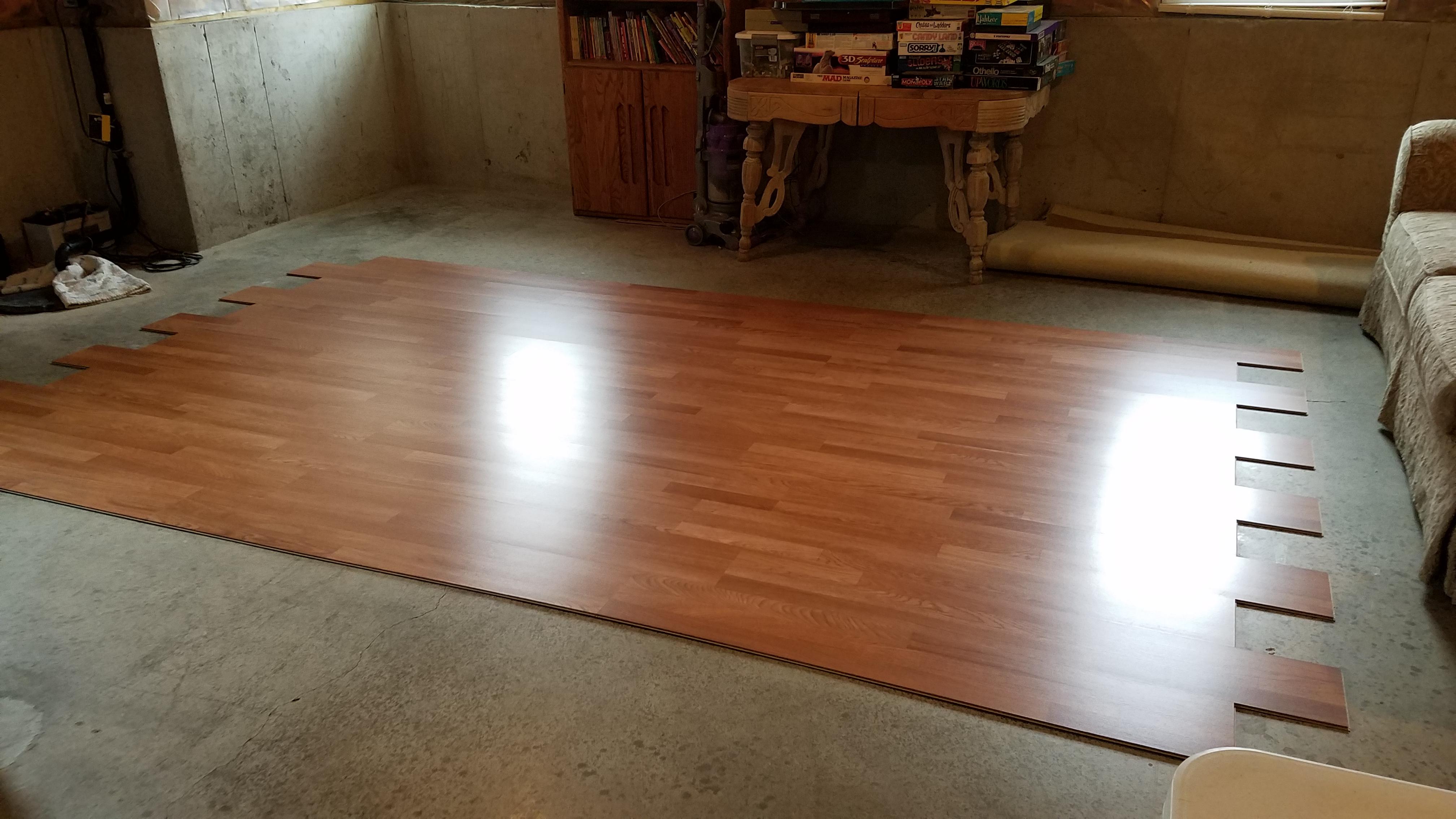 Wood Laminate Dance Floor Area