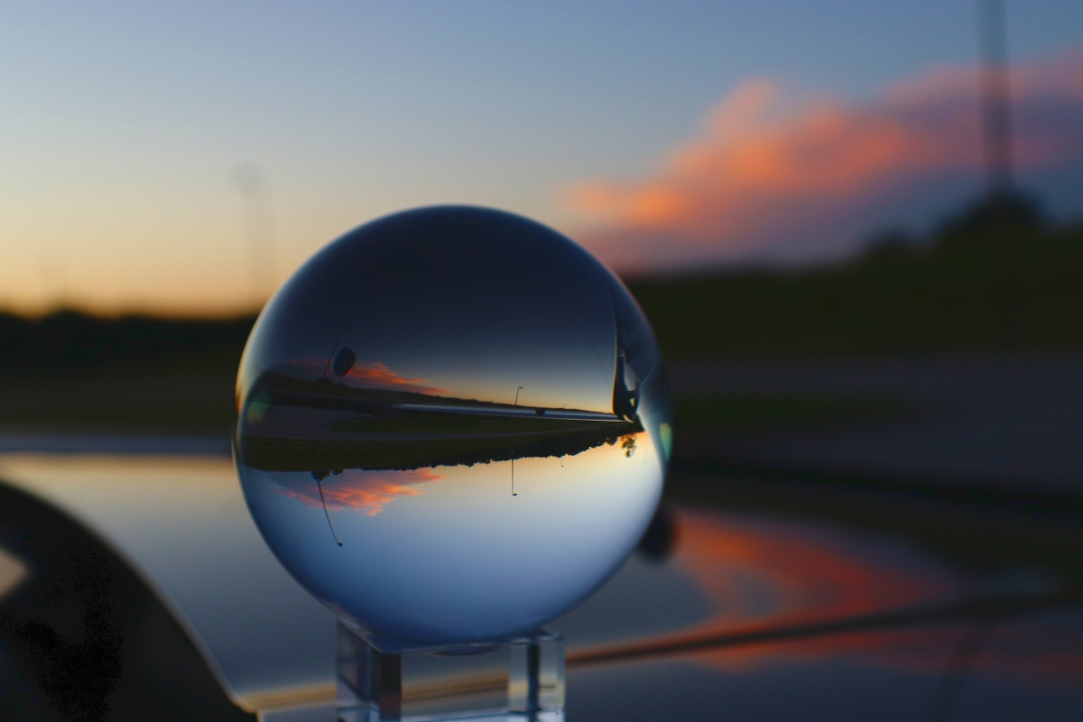 Sunset Through Photography Sphere