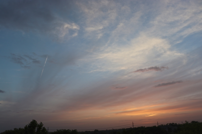 Saharan Dust Sunset