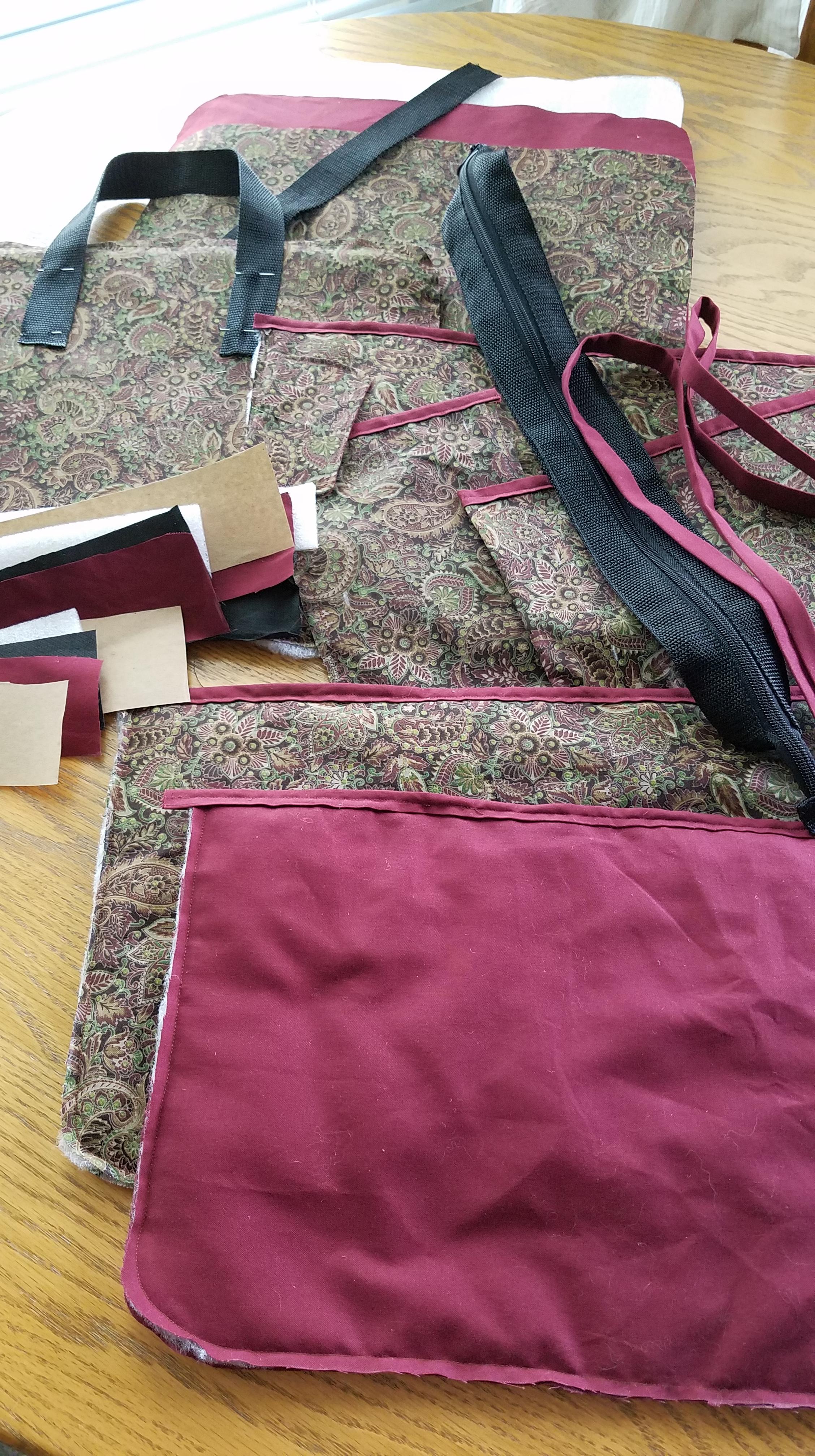 Laptop Bag: Cut Out Pieces & Midway Point