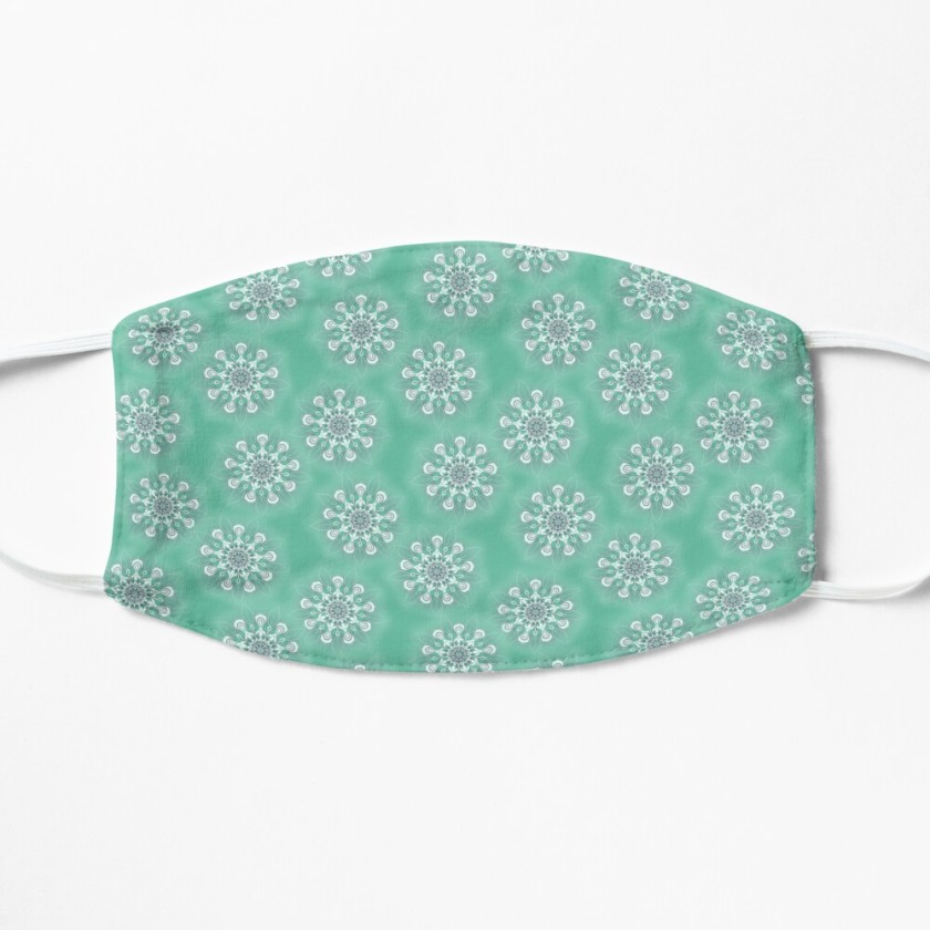 Funky Flowers On Green Mask