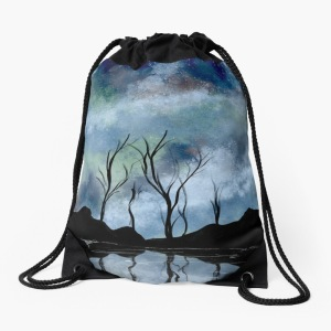 Night Sky Drawstring Bag