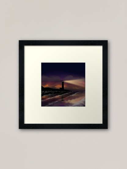 Twilight Lighthouse Framed Print