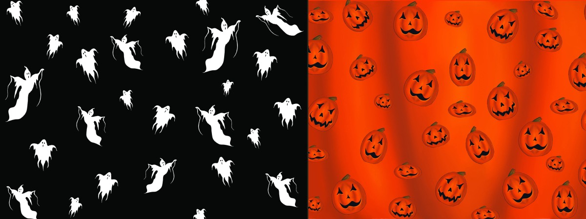 Halloween Ghosts And Jack O'Lanterns on Redbubble