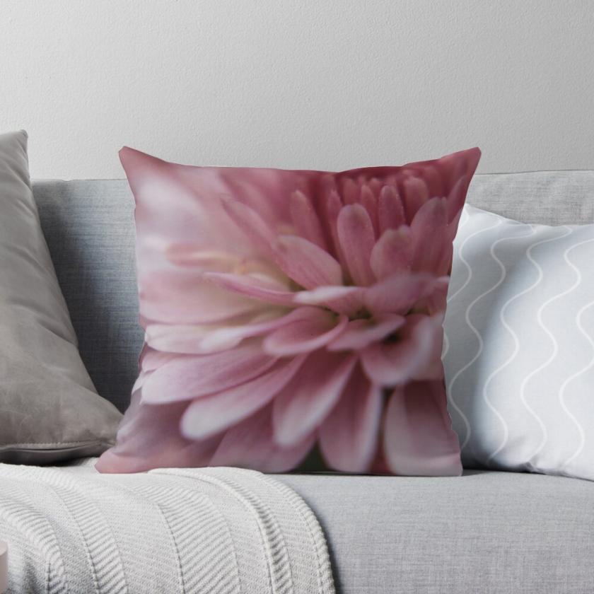 Pink Mum Throw Pillow