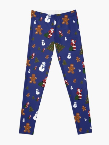 Blue Christmas Goodies Leggings