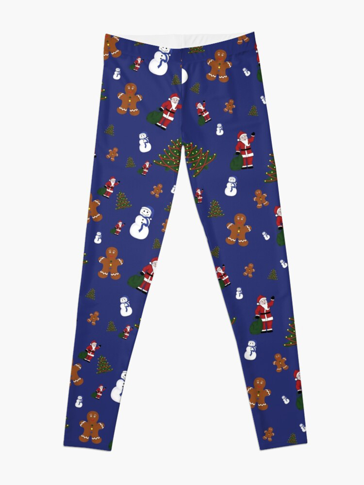 Blue Christmas Goodies Leggings