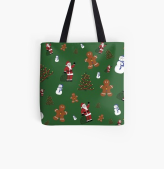 Green Christmas Goodies Tote Bag