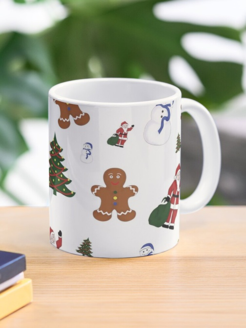 White Christmas Goodies Mug