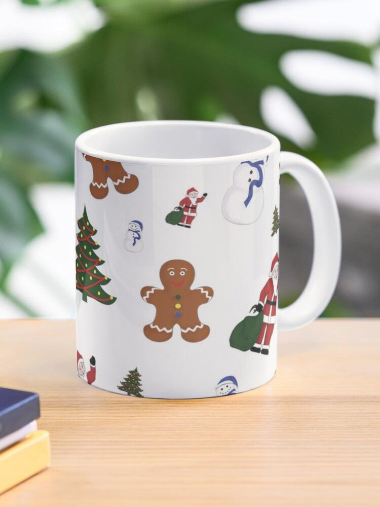 White Christmas Goodies Mug