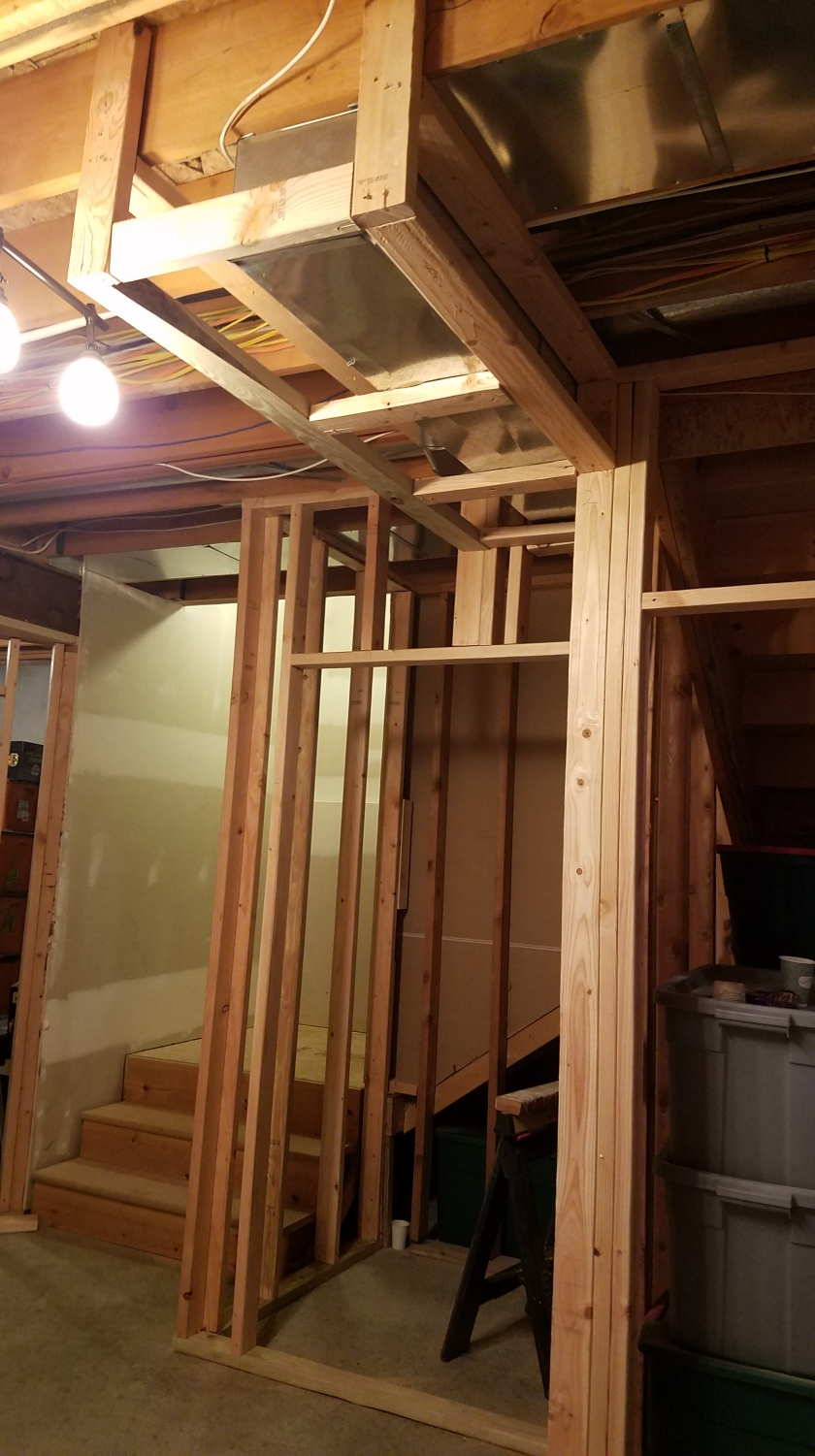 New Closet And Duct Work Framing